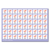 My Labels™ Chic & Fun Iron-on Fabric Name Labels Single Icon