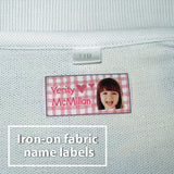 Fabric iron-on name labels