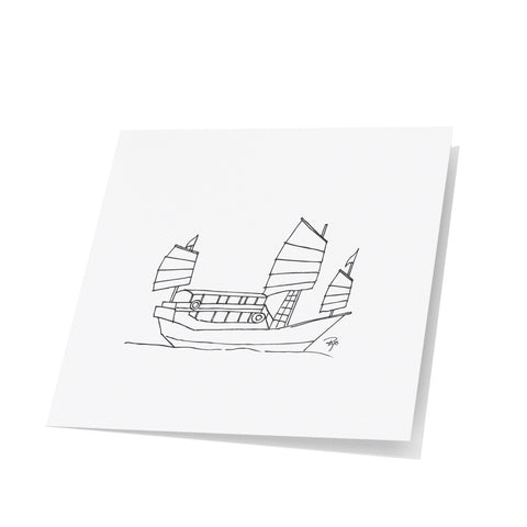 Chinese Junk Note Cards
