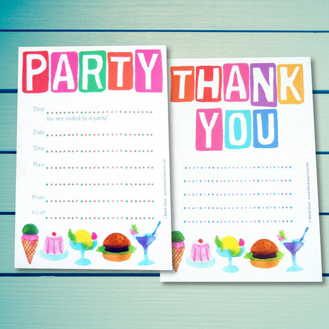 Kiddy Collection™ Party Stationery - Party Gourmet