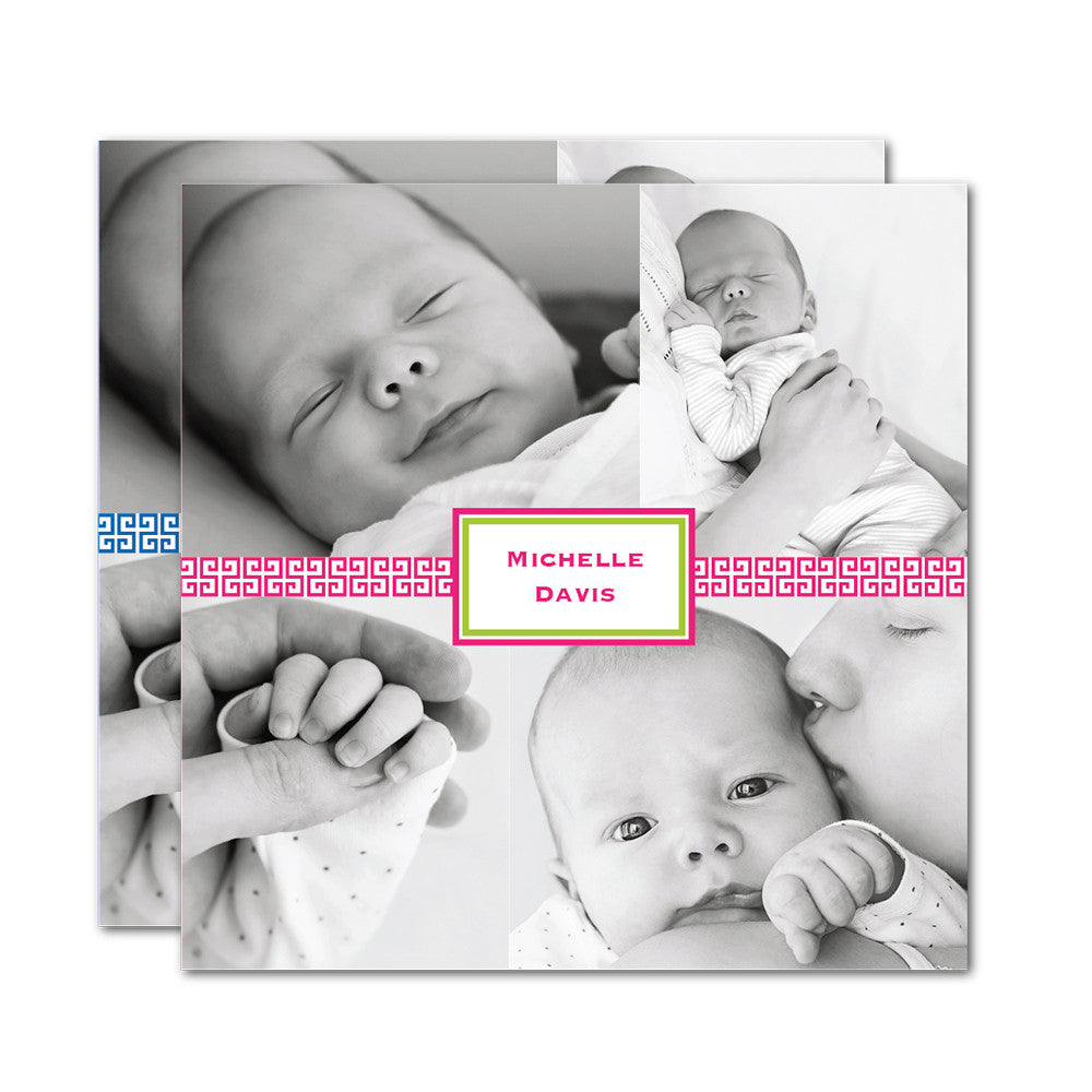 Lattice Name Tag Birth Announcements