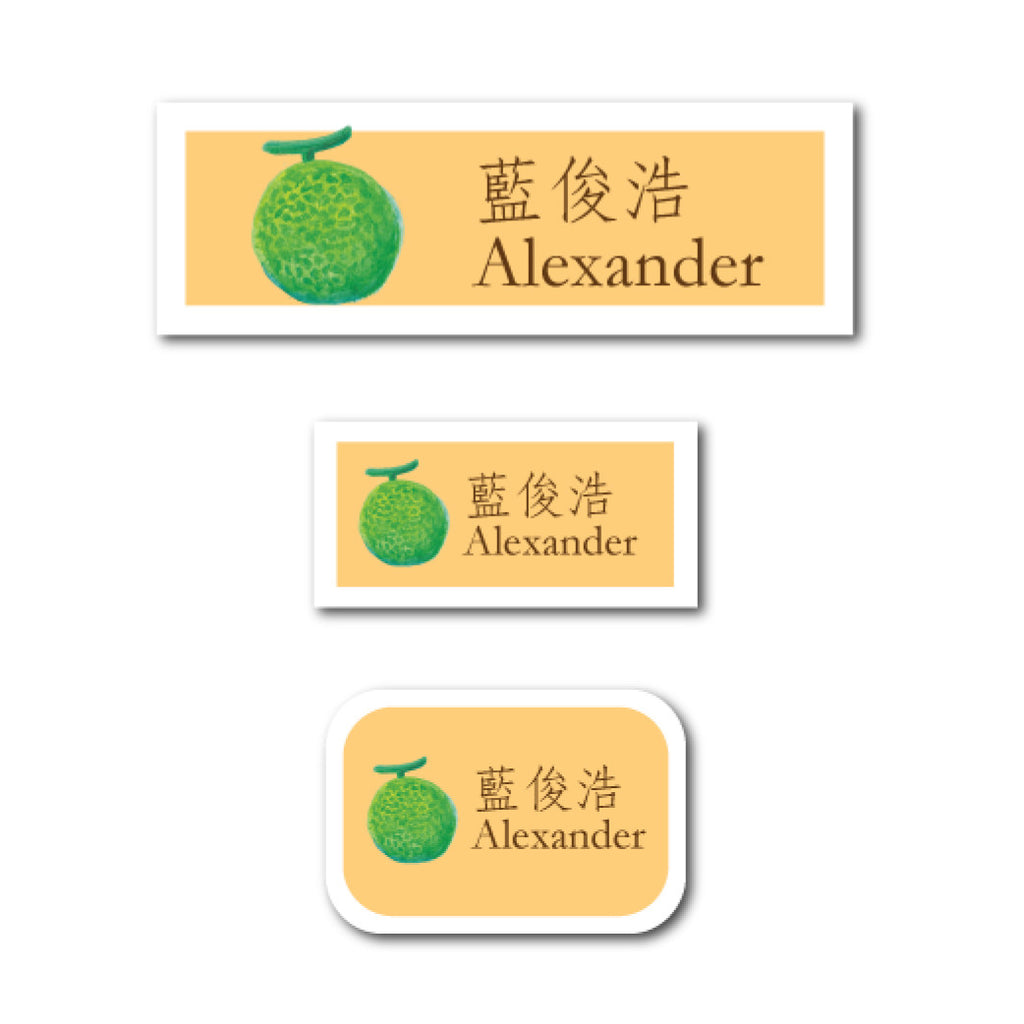 Melon name labels