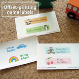Offset-printing name labels