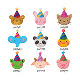 Party Animals iron-on name labels