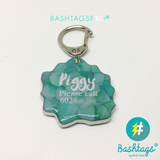 Pink Jade - Blooms & Blossoms Pet ID Tag