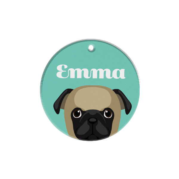 Pug | Personalized Dog Tags by Blank Sheet