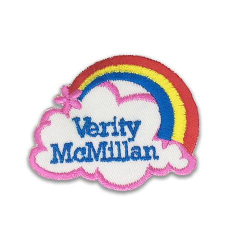 Rainbow embroidered name patches | Iron-on & Sew-on | Blank Sheet