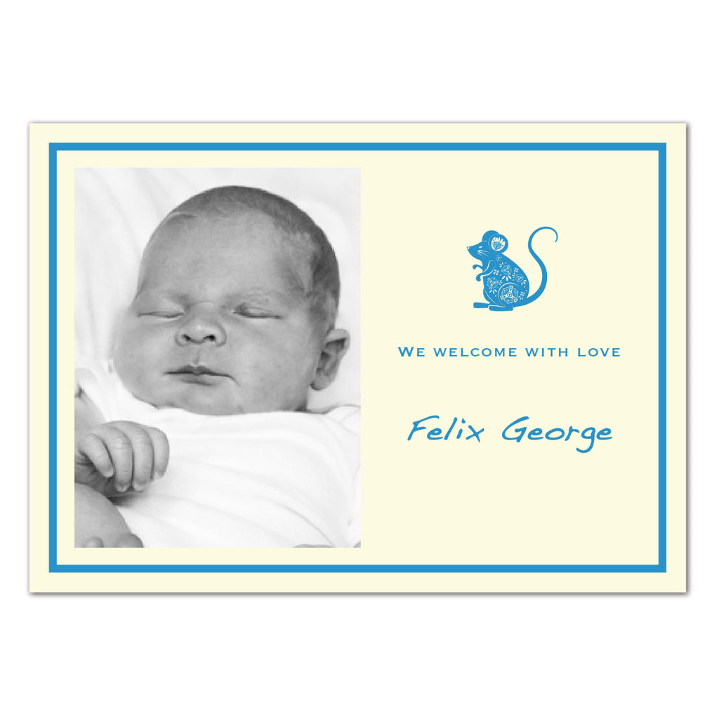 Year of the Rat Baby | Birth Announcements by Blank Sheet