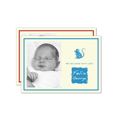 Year of the Rat Baby Name Stamp | Birth Announcements by Blank Sheet