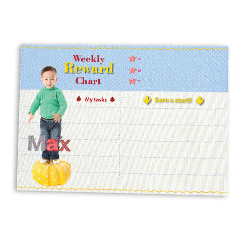 Reward Chart Baby Blue | Blank Sheet