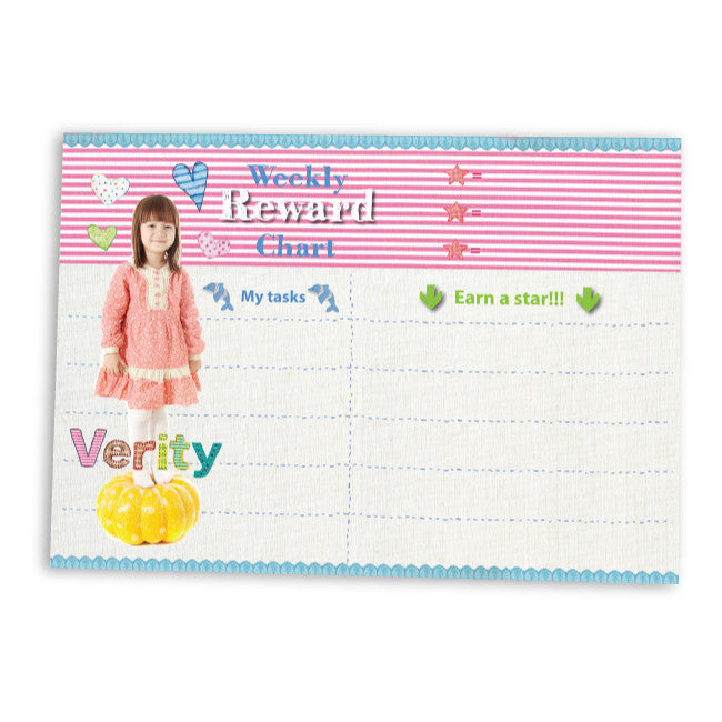 Reward Chart Girly Pink | Blank Sheet