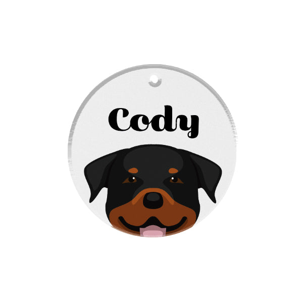 Rottweiler | Personalized Dog Tags by Blank Sheet