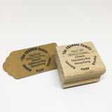 Name around address stamp 40x40mm