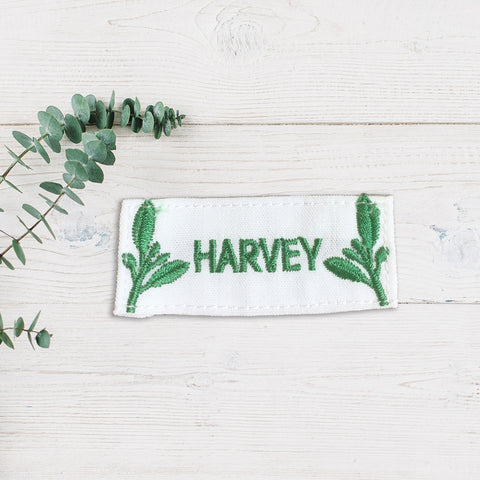 embroidered name patches