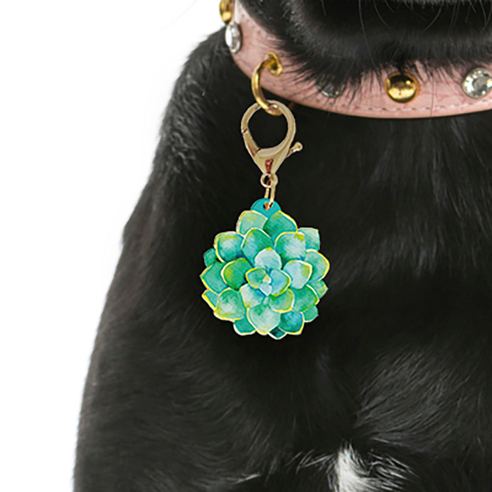 Glazed Porcelain - Blooms & Blossoms Pet ID Tag