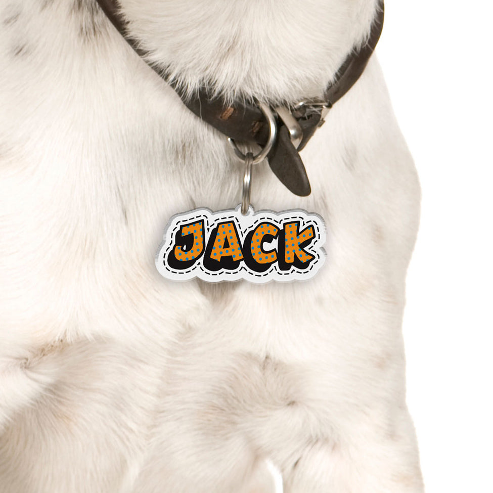Superhero Comic | Personalized Pet ID Tags for Dogs & Cats by Blank Sheet