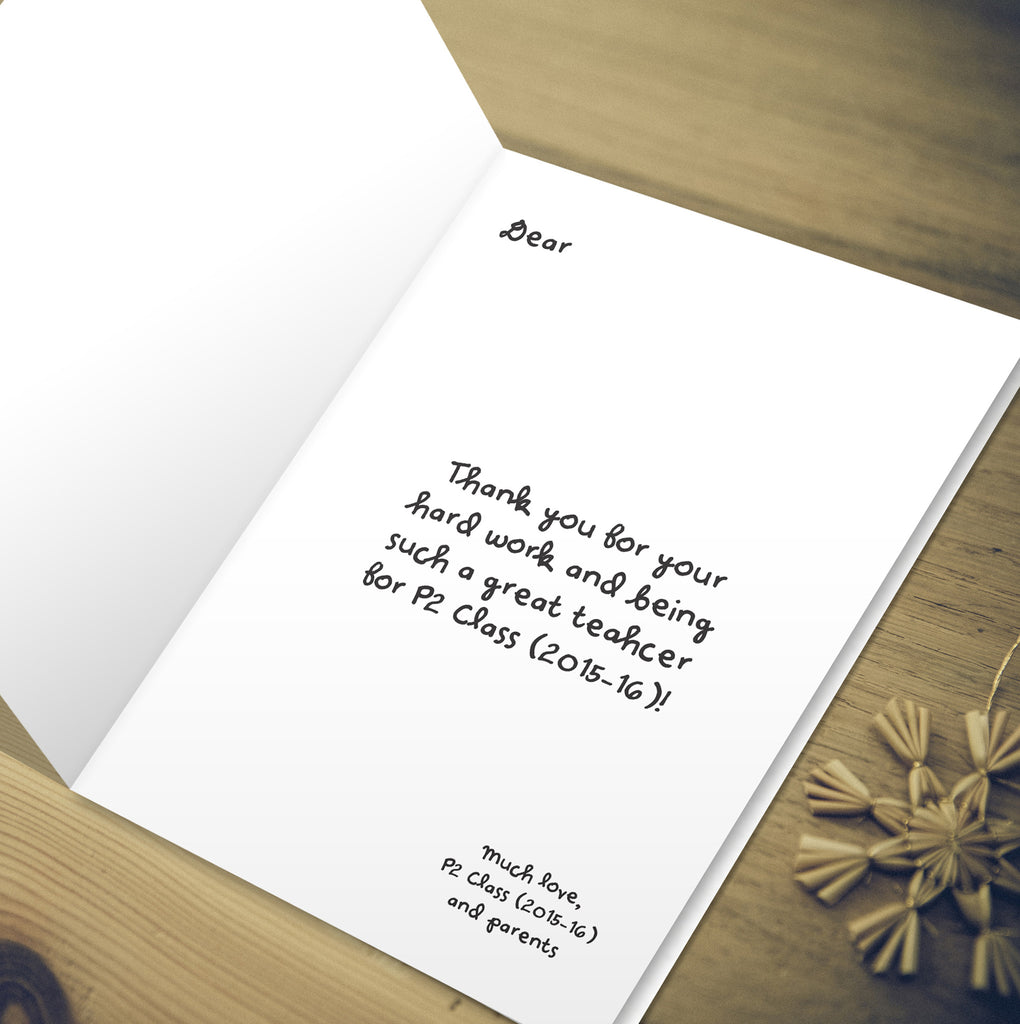 Thank You Cards Starting Package Of 20 Cards