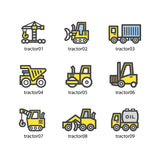 Tractors sticky name labels