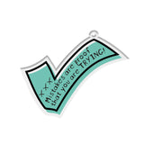 Inspiring Quote Bag Tag