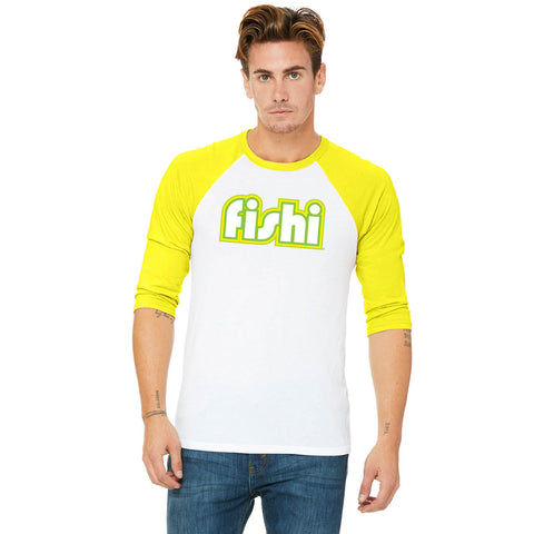 Adult Yellow- White Retro 3/4 Shirt