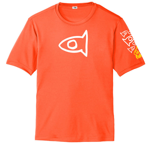 Adult S/S Neon Orange Pat