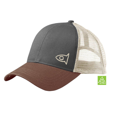 Eco Hat Charcoal / Leg Brown