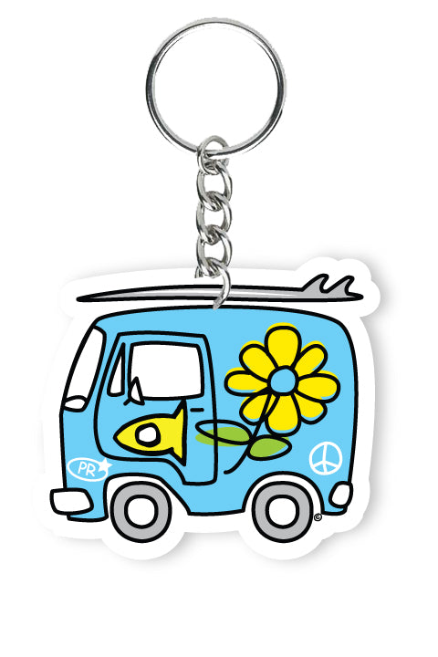 Key Chain Fishi's Blue Van