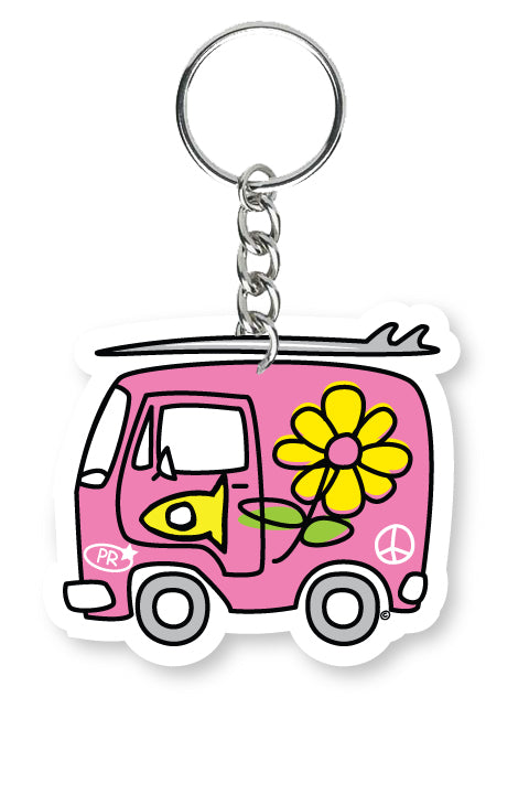 Key Chain Fishi's Pink Van