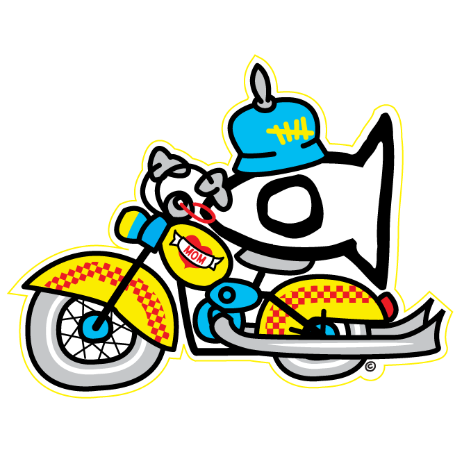 Sticker Biker Fishi