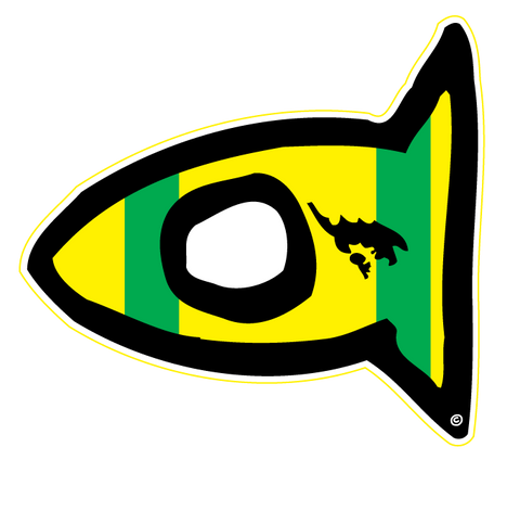 Sticker Culebra Fishi Flag