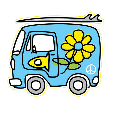 Sticker Fishi's Blue Van