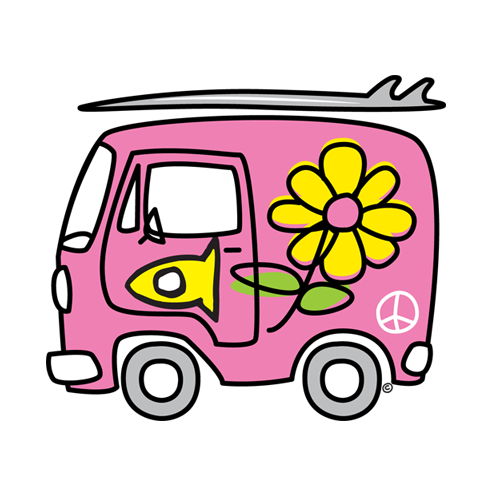 Sticker Fishi's Van Pink