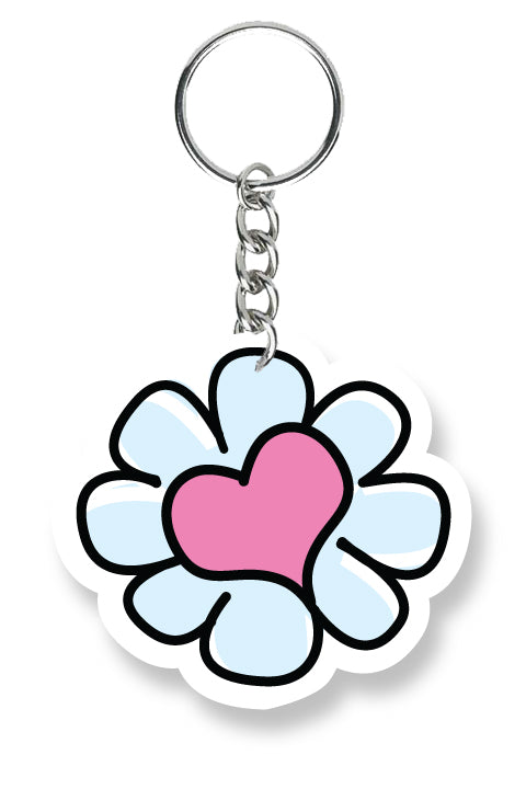 Key Chain Flower Peace