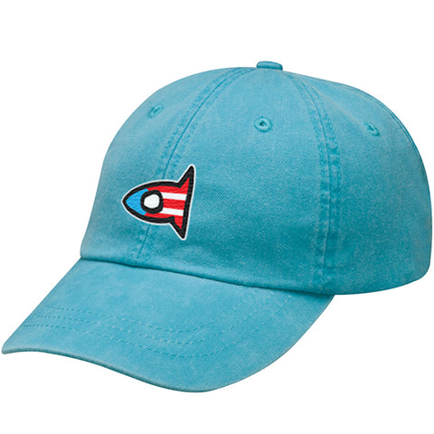 P.R Flag Dad Cap - Caribbean Blue