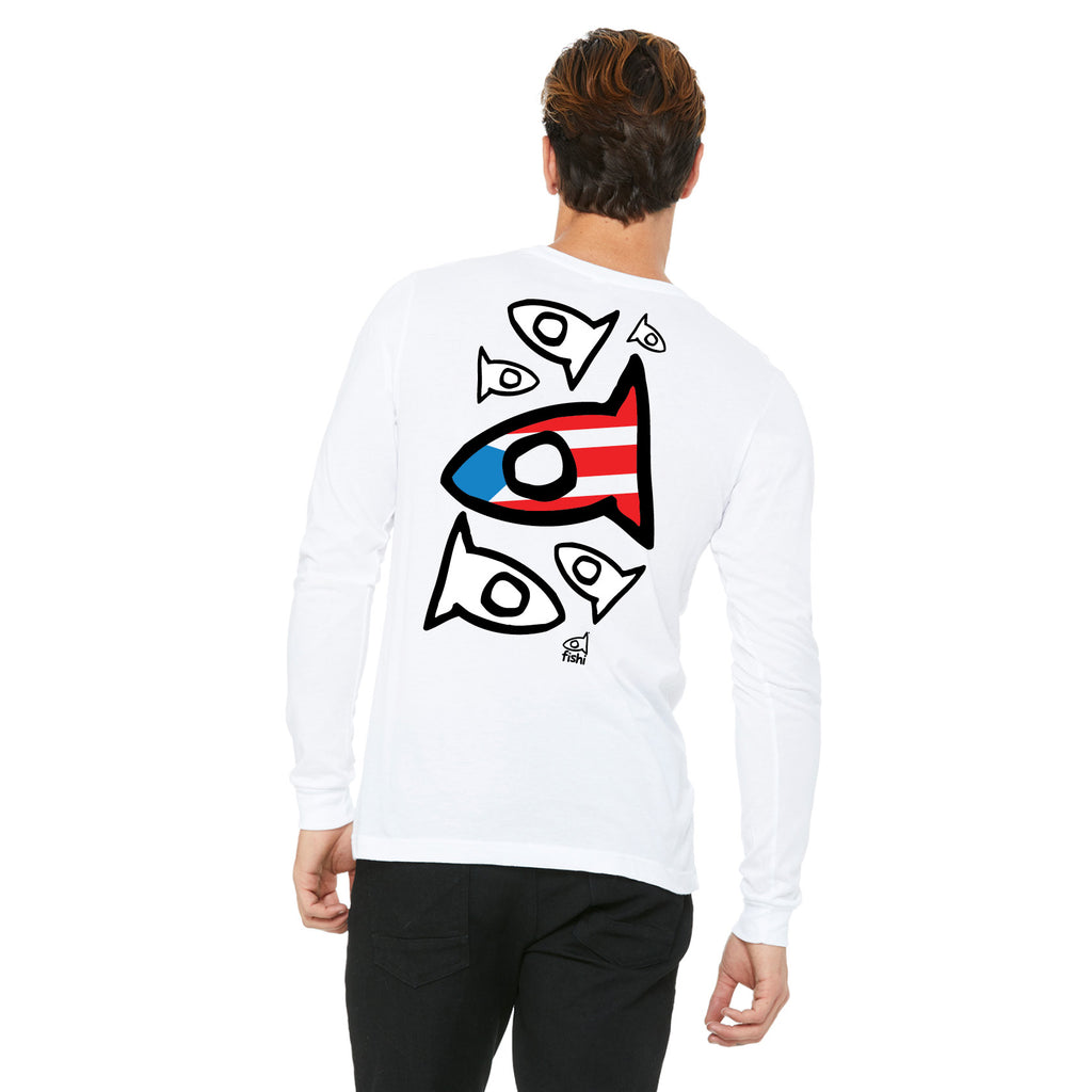 PR Long-Sleeve White