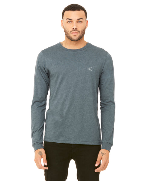Heather Slate -L/S Embro