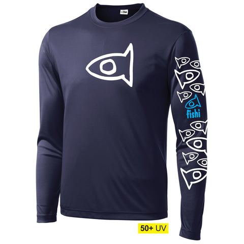 50+UV Adult Swim Shirt Navy