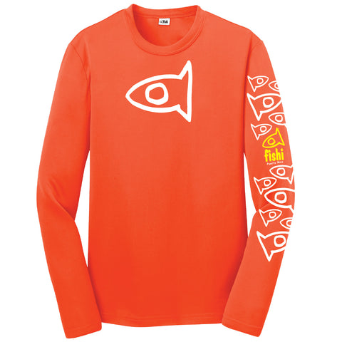 Youth Neon Orange Sleeve Pattern