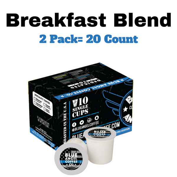 Blue Angel Coffee K-Cups (Breakfast Blend) 20 Count