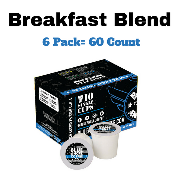 Blue Angel Coffee K-Cups (Breakfast Blend) 60 Count