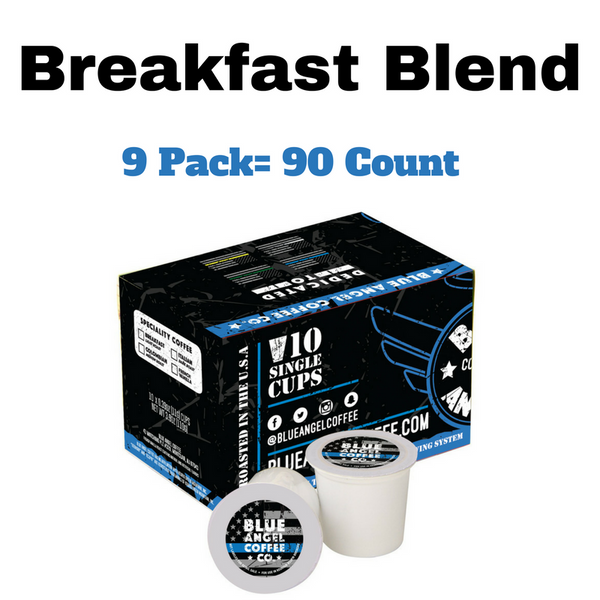 Blue Angel Coffee K-Cups (Breakfast Blend) 90 Count