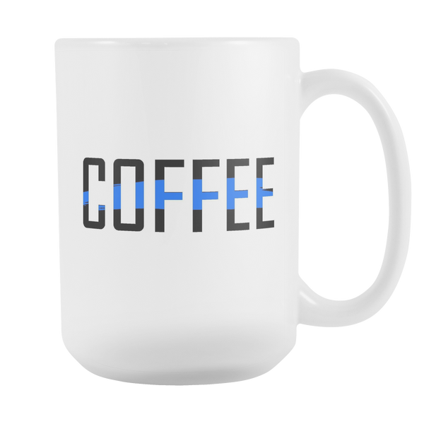 15 oz Thin Blue Line Coffee Mug - Blue Angel Coffee