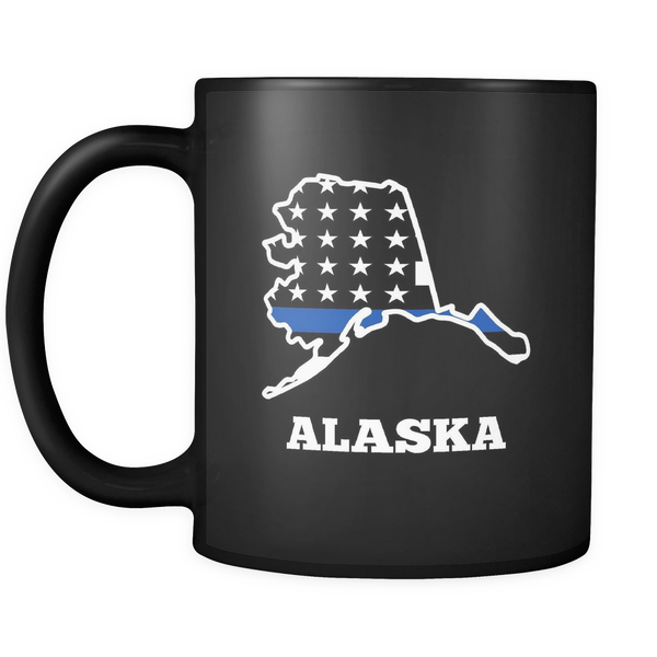 Thin Blue Line Alaska Police Mug - Blue Angel Coffee