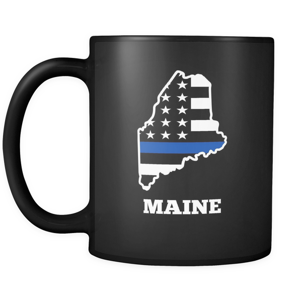 Thin Blue Line Maine Police Mug - Blue Angel Coffee