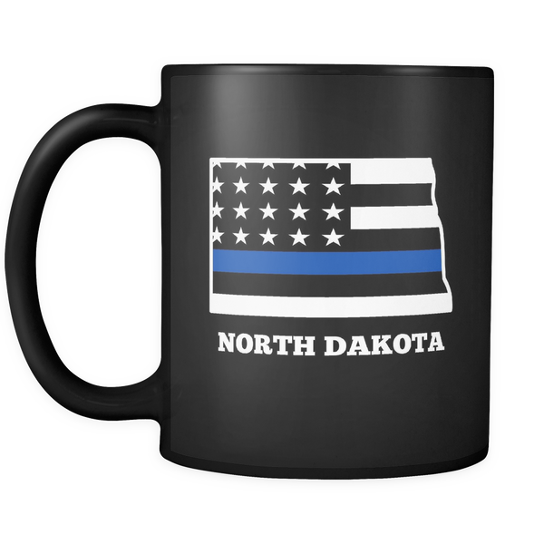Thin Blue Line North Dakota Police Mug