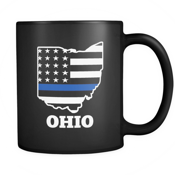 Thin Blue Line Ohio Mug - Blue Angel Coffee