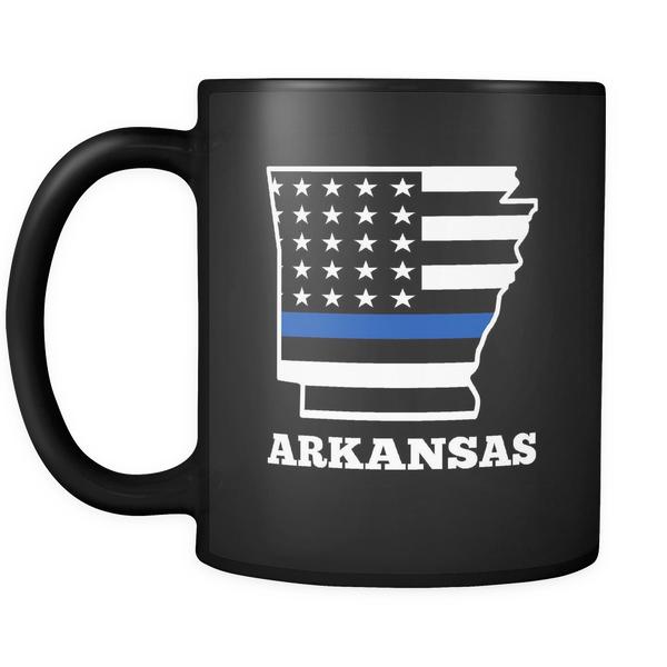 Thin Blue Line Arkansas Police Mug - Blue Angel Coffee