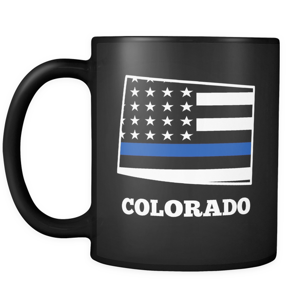 Thin Blue Line Colorado Police Mug - Blue Angel Coffee