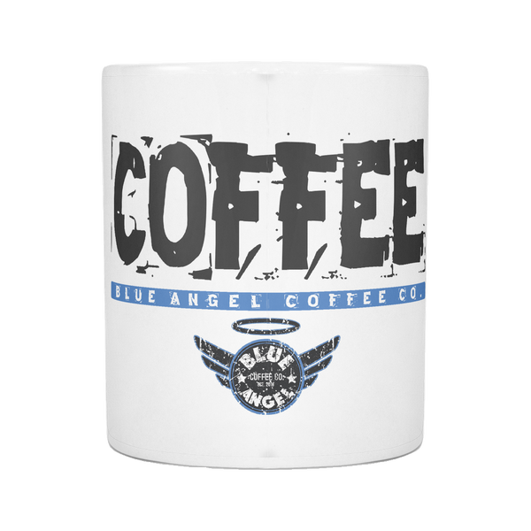Blue Angel Coffee Distressed Mug - Blue Angel Coffee