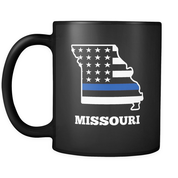 Thin Blue Line Missouri Police Mug - Blue Angel Coffee